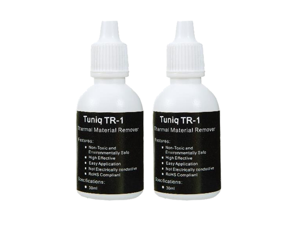 SA TUNIQ TR-1 thermal cooling material remover and surface cleaner  (2 bottles set  60ML)thermal grease remover and purifier  thermal paste remover purifier