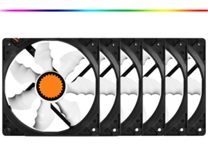 SA 120mm Case Fan 6-Pack, Long Life Sleeve Bearing Computer Case Fan , and Provide Excellent Ventilation,PC case fans Ultra Quiet Computer Cooling Fan 120 mm Standard Case Fan 4 Pin/3 Pin 6 Pack-Black