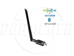 SA USB 3.0 Bluetooth 5.0 WiFi adapter AC 1200Mbps, 1300Mbps suitable for PC, wireless Wi-Fi dongle dual-band 2.4G / 5.8G with antenna support, Windows 10 / 8.1 / 7 / XP / Vista / Mac OS