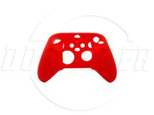 SA XboxSeries S/X wireless handle rubber sleeve XboxS/X silicone sleeve with non-slip particle handle-red