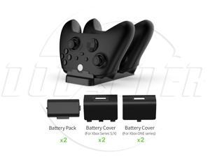 SA XBOX Series X/S Controller Charger Docking Charging Station with 2 chargeable Battery XboxOne Dual Controller Charger Compatible and Cover with Charging Cable