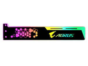 SA AORUS pattern Graphics card GPU support bracket Video card recessed bracket/rack bracket, 5V 4-pin RGB Streamer discoloration GPU Brace, for shell decoration 280mm