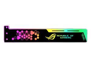 SA ASUS ROG pattern Graphics card GPU support bracket Video card recessed bracket/rack bracket, 5V 4-pin RGB Streamer discoloration GPU Brace, for shell decoration 280mm