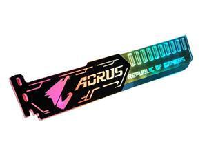 SA AORUS pattern Graphics card GPU support bracket Video card recessed bracket/rack bracket, 5V 4-pin RGB Streamer discoloration GPU Brace, for shell decoration 250mm
