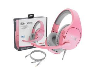 HyperX Cloud Stinger Head-mounted Gaming Headset with Noise Reduction Microphone for PC Game Console Cellphone Pink