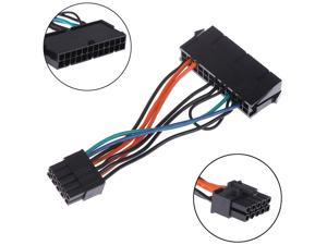 24-Pin Female to 10-Pin Male Adapter Power Supply Cable Cord for Lenovo 10PIN Motherboard 10cm