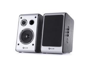 "60 Watt  Home Theater Bluetooth Bookshelf Speakers - High Performance Outdoor Indoor Speakers with Powerful Bass   - 2-Inch Silk Dome Tweeter , 4"" Full Range    Sold in Pairs"