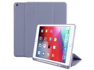 For IPad 10.2 Inch Case, Ultrathin Trifold PU Leather+Soft Silicone Stand Cover With Pencil Holder, Auto Sleep/Wake For IPad 8th 2020 / IPad 7th 2019 10.2 Inch