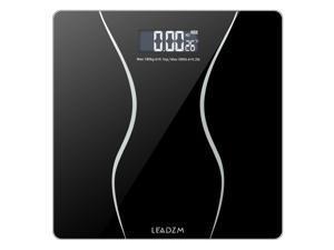 400lb/180KG Digital LCD Glass Bathroom Scale Body Weight Scales High Precision