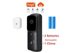 Hannord Wifi Doorbell Smart Video Doorbell Wireless Security Door Bell Visual Recording Home Monitor Night Vision Intercom