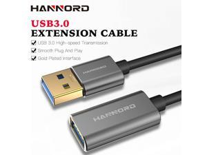 Hannord USB 3.0 Extension Cable Type A Male to Female Extension Cord High Data Transfer Compatible with USB Keyboard,Flash Drive, Hard Drive - 1.6ft./0.5M