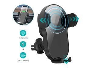 Hannord Wireless Car Charger,15W Qi Fast Charging Car Mount Charger Auto-Clamping Smart Positioning Air Vent Phone Holder Compatible with iPhone11/11Pro/11Pro Max/XS/XR/X/8/8+,SamsungS10/S10+/S9/S8