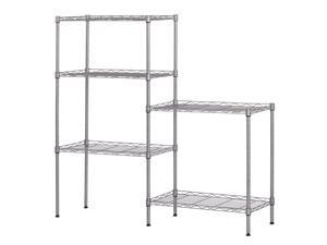 "Hannord 5-Tier Wire Shelving, Metal Wire Shelf Storage Rack, Durable Organizer Unit Perfect for Kitchen Garage Pantry Organization in Silver, 21.25"" W x 11.42"" D x 59"" H"