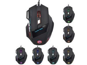 Fantastic Alternating Light High Accuracy USB 2.0 7-Button Wired Game Mouse 5500 DPI High Accuracy Gaming Mouse