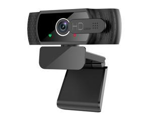 1080P Webcam with Microphone - FHD Web Cam with Privacy Cover, Plug and Play USB Web Camera for Desktop & Laptop Video Conferencing/Calling/Skype/YouTube/Zoom/Facetime