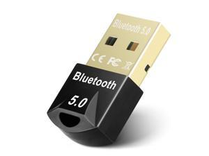 Bluetooth Adapter for PC, Hannord USB Mini Bluetooth 5.0 Dongle for Computer Desktop Wireless Transfer for Laptop Bluetooth Headphones Headset Speakers Keyboard Mouse Printer Windows 10/8.1/8/7