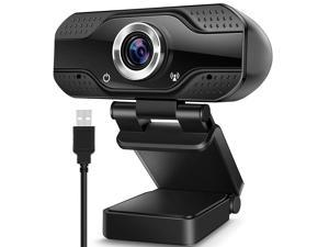 Hannord Video Calling Recording Conferencing Live Class Webcam,1080P Full HD Webcam USB Desktop & Laptop Webcam Live Streaming Webcam with Microphone Widescreen HD Video Webcam