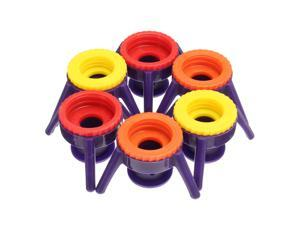 6Pcs 4 Sizes All In One Beauty Pack Dispenser Bottle Cap System No More Waste