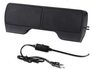 ELENKER Laptop Speakers, External USB Powered Mini Wired Portable Clip-on Computer Soundbar for Desktop PC Monitor Notebook Tablets TV