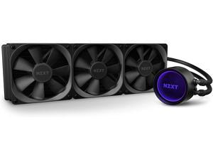 High Performance NZXT AIO RGB CPU Liquid Cooler 3 Fan Slots (120mm) - Rotating Infinity Mirror Design - Improved Pump - Powered By CAM V4 - RGB Connector - Aer P 120mm Radiator Fans (3 Included)