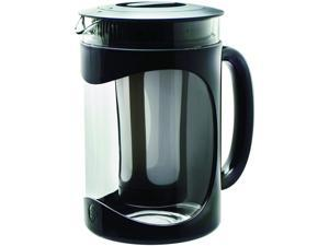 Burke Deluxe Cold Brew Iced Coffee Maker, Comfort Grip Handle, Durable Glass Carafe, Removable Mesh Filter, Perfect 6 Cup Size, Dishwasher Safe, 1.6 Qt, Black