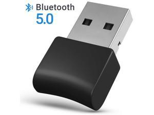 Bluetooth Adapter for PC - Bluetooth Dongle 5.0 Adapter for Windows 10/8/7/XP for Desktop, Laptop, Mouse, Keyboard, Headset, Speaker - USB Bluetooth 5.0 Dongle