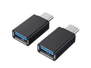 USB C Adapter, [2 Pack] USB C to USB 3.0 Adapter Compatible with MacBook Pro 2017/2016 , Google Chromebook Pixelbook , Samsung Galaxy S9 S8 S8+ Note8, Google Pixel 2/2XL - Black