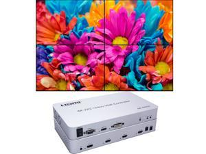 Video Wall Controller 2x2 4K Processor Support 3840x2160@60Hz HDMI Support 2x2,1x2,1x4 with 1 DVI or HDMI Input 4 HDMI Output