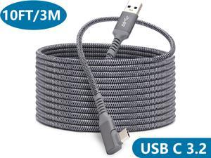 Link Cable Compatible for Oculus Quest 2, Fast Charging & PC Data Transfer USB C 3.2 Gen1 Cable for VR Headset and Gaming PC 10FT(3M)