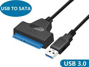"""USB 3.0 to SATA III Adapter Cable with UASP SATA to USB Converter for 2.5"""" Hard Drives Disk HDD and Solid State Drives SSD"""