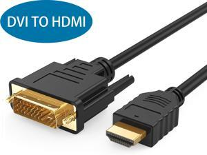 DVI to HDMI Cable, 6.6ft HDMI to DVI Bi Directional Adapter, HDMI Male to DVI-D 24+1 Male, Support 1080P HD for Raspberry Pi, Roku, Xbox One, PS5, Graphics Card, Blue-ray, Nintendo Switch