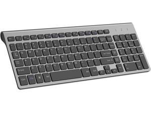 Wireless Keyboard,2.4G Slim and Compact Wireless Keyboard for Computer,Laptop,Windows,PC,Desktop,Smart TV-Black and Grey