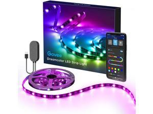 TV LED Strip Lights, 6.56FT RGBIC TV LED Backlights with App Control, Music Sync, Scene Mode, Color Changing LED Light Strip with Timer for HDTV PC Computer Gaming, USB Powered