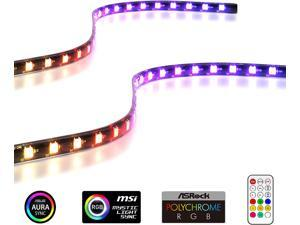 Addressable RGB LED Strips with Magnet for PC Case,with Remote Control(Compatible with ASUS Aura Sync and MSI Mystic Light Sync)-2 Pack 40CM