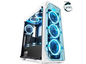 Segotep Gaming Computer PC Case For Desktop Computer PC Full-side water-cooled case, ATX large-board desktop case, DIY computer main box, PC game case, USB port-tempered glass side panel