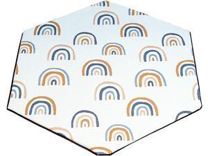 "Pop 'N Go Organic Bamboo Mattress Cover - Hexigonal 59"" Fit Mat Cover for Pop 'N Go Portable Playpen Self Inflating Mattress (Royal Rainbows)"