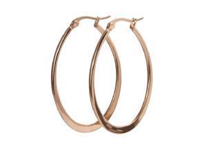 Womens Stainless Steel Large Hoop Earrings,Rose Gold