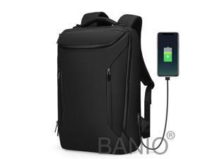 Men Anti-Thief Waterproof 15.6 Laptop USB Backpack Travel School Computer Bag