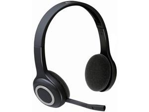 Logitech H600 2.4 GHz Wireless Headset with Microphone (Flexible Noise Cancelling Mic) Mute Button Clear Sound Comfortable Wearing, Headset for Office Home Business Trucker Drivers