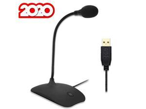 USB Desk Microphone for Computer - Compatible with Any PC, Laptop, Mac, PS4 - Professional Desktop Mic with Stand - Recording, Gaming, Streaming, YouTube, Podcast Mics, Studio