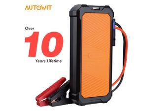 Autowit Car SuperCap 2 12-Volt Battery-less Portable Jump Starter (Up to 7.0L Gas, 4.0L Diesel) Built-in SuperCap, No Battery Engine Starter Car Accessories, Battery Charger