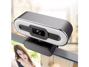 2K HD Webcam with Fill Light Rotatable Laptop Web Camera PC Computer Camera With Microphone For Youtube Video Recording