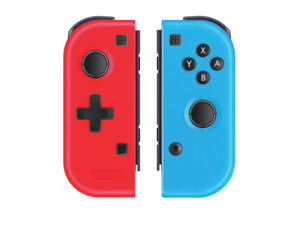 Wireless Controller for Nintendo Switch, Bluetooth Joy-con Controller Gamepad Joypad Joystick for Nintendo Switch Console- Red(L) & Blue(R)