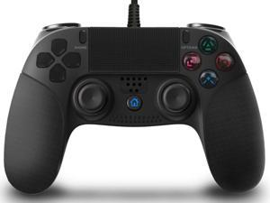 Game Controller for PS4  , Wired Controller for Playstation 4, Professional USB PS4 Wired Gamepad , Antiskid marks+Built-in Color LED