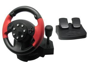 PC Gaming Controller , Universal Usb Car Racing Steering Wheel Dual-Motor Feedback Driving,with Pedals and Joystick PC Steering Wheel,Suitable for Xbox /Xbox One/PS3/PS4/PC/Xbox One/N-Switch
