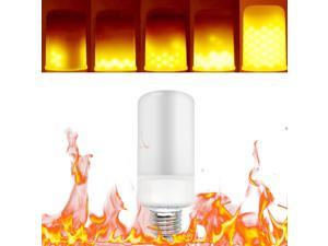 Tomshine LED Fire Effect Light Bulb E27 Base Always Bright/Flame Flickering Mode SMD2835 Decorative Atmosphere Lamp for Party Holiday Birthday Gift