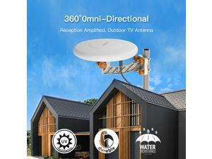 360º HDTV/HD/DIGITAL/4K INDOOR OUTDOOR OMNI ALL DIRECTION AMPLIFIED TV ANTENNA