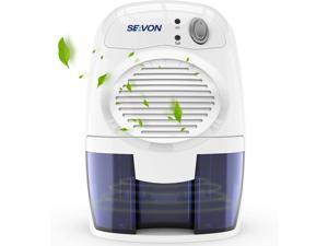SEAVON Electric Upgraded Dehumidifier for Home, 2000 Cubic Feet (195 sq ft) Portable and Compact 500ml (16 oz) Capacity Quiet Small Dehumidifiers for Basements, Bedroom, Bathroom, RV, Closet, Auto Shu