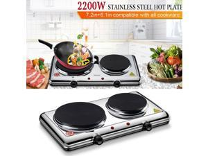 Hot Plate for Cooking Electric Doub Burner with Adjustable Temperature Control