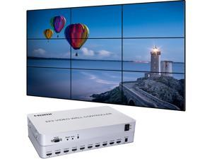 Video Wall Controller 3x3 Processor 1080P HDMI 1.3 with 1 HDMI Input and 9 Outputs 13 Display Modes Including 1x1,1x2,1x3, 1x4, 2x1, 2x2, 2x3, 2x4, 3x1, 3x2, 3x3, 4x1, 4x2
